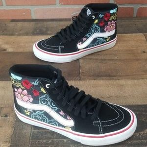 d11e202cc043 Vans Shoes - Vans Sk8-Hi Pro Lizzie Floral Black   White Shoes
